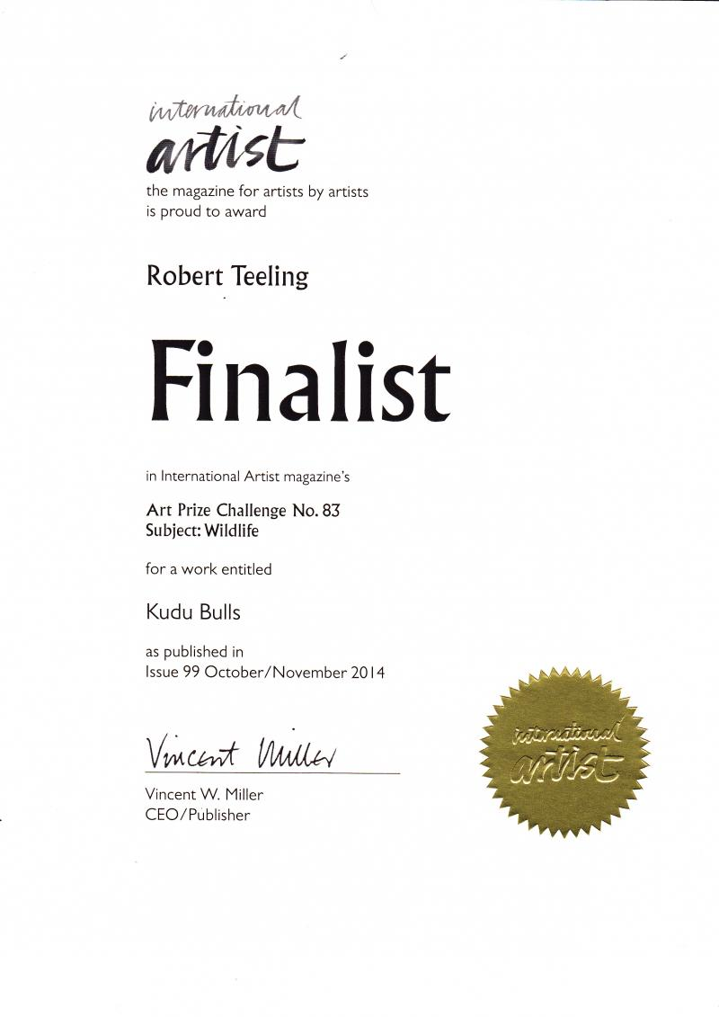 Certificate - International Artist Magazine